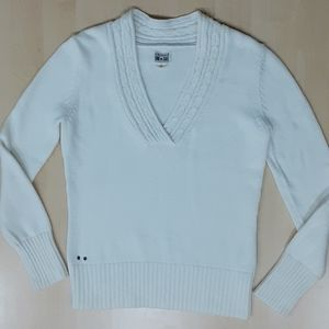 Converse O.S V-Neck Cable Knit Collar Sweater #005